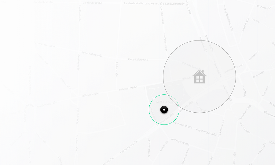 Homezone Unlock exiting the Homezone radius